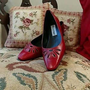 SALE Aigner red flats sz 7 1/2